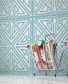 Viva: Blue Wallpaper from www.grahambrown.com