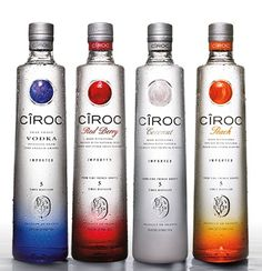 Ciroc Vodka Quatro set Ciroc Original,Redberry,Coconut and the latest Ciroc Peach #ciroc #cirocvodka #vodka