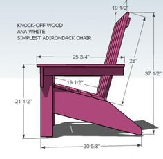 Patio: DIY Adirondack Chair (Each costs about $5)