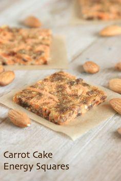 gluten-free, dairy-free carrot cake energy bars recipe
