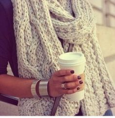 Cable scarf inspiration