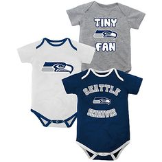 Newborn Seattle Seahawks 3 Piece Creeper Set - for Kate