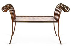 Florentine Gilded Metal Bench  on OneKingsLane.com