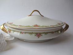 Beautiful Vintage Haviland Limoges Pink Green by thechinagirl
