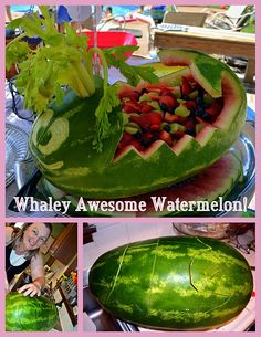 whale watermelon carving. AWESOME.   I did a dinosaur for maddox, too bad i forgot my camera #partypoopr