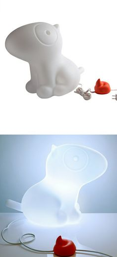 Doggie Lamp - push the little poo to turn it on...hilarious.