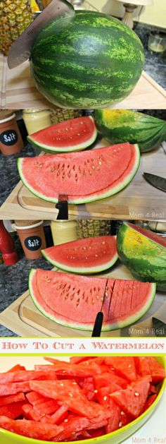 How to cut a watermelon step by step instructions