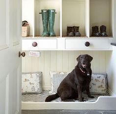 Mud room dog bed