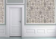 Louise Body Patchwork/Tea tile wallpaper