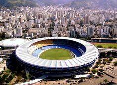 Maracana Stadium, Rio De Janeiro. Stood on terrace in 1981 with 161,000 others for Vasco de Gama v Flamengo. Interesting experience! A bit different now, all seated. #maracana