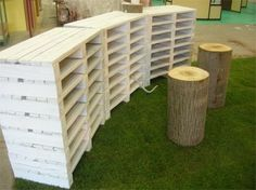 art studios, pallet designs, the office, storage containers, storage ideas, old pallets, craft storage, crafts, craft rooms