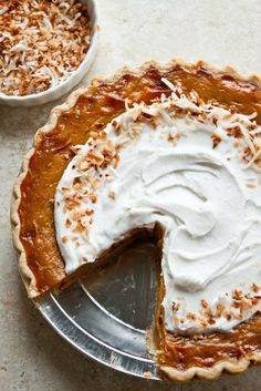 Orange Spice Coconut Pumpkin Pie from Dessert for Two