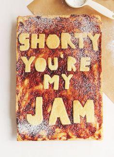 Valentine's Shortbread with Raspberry & Rosemary Jam