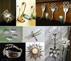 diy ideas, knive, silverware art, old silverware, spoon rings, fork art, silverware crafts, craft ideas, art projects