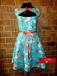 Rockabilly Pin UP Retro dress Vestido Floral Turmalina