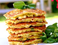 Corn and Basil Cakes