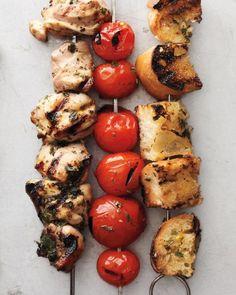 Chicken, Tomato and Bread Cubes with Lemon-Oregano Marinade Recipe