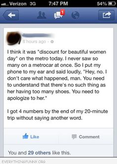funny facebook no such thing as too many shoes got four womens phone numbers