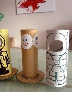 Changing Faces - Toilet Roll Dolls. you can rotate the faces!! by lorene