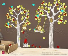 Woodland vinyl wall stickers