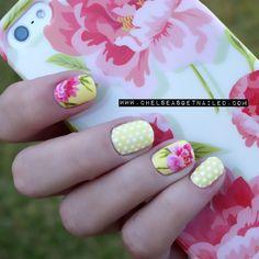 Peonies www.chelseasgetnailed.com  #nail #nails #nailsart