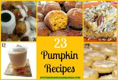23 #Pumpkin Recipes - Great for #Autumn cooking!
