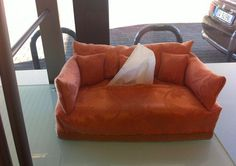 Is it a sofa or a handkerchief dispenser? :-D