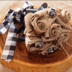 DIY Burlap Bouquet!!!  Tutorial with Video!