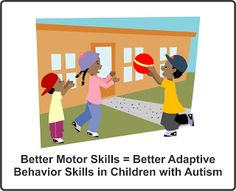 Your Therapy Source: Better Motor Skills = Better Adaptive Behavior Skills in Children with Autism. Pinned by SOS Inc. Resources. Follow all our boards at pinterest.com/sostherapy for therapy resources.