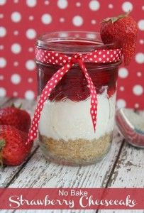 No bake strawberrycheesecake