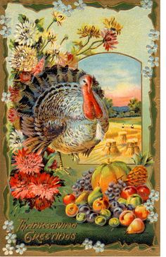 Vintage Thanksgiving Postcard by bulldoggrrl, via Flickr