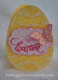 Chantilly paper and Cricut Art Philosophy Easter Egg Card