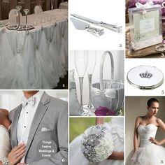 Fairy Tale Wedding Theme in Platinum & Diamonds