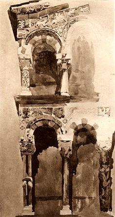San Michele, Lucca  John Ruskin (watercolor)