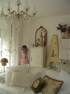 French Shabby Chic Cottage Decor.