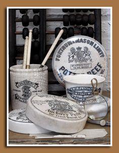 vintage potted meat crocks