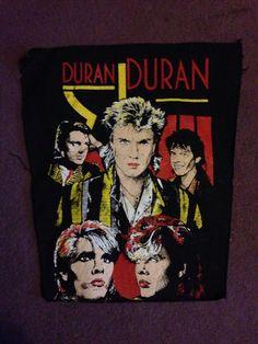 Vintage Duran Duran Denim Jacket Backpatch 1980s by dandyvintages