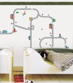 Streetways and Cars Wall Decal at Art.com