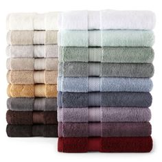 Royal Velvet® Egyptian Cotton Solid Bath Towels  found at @JCPenney  - purples and pale green. Would love to have the really big bath towels (4) and (4) hand towels