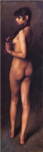 One of my favorite paintings of all time!    Nude Egyptian Girl - John Singer Sargent  LA PALABRA GITANO ES UNA MALA INFORMACION LLEGADA A EUROPA PROVENIENTE DE TURQUIA....PENSARON QUE VENIAN DE EGIPTO.....Y LOS LLAMARON EGIP-TIANOS.... pero en realidad venian de  INDIA  GITANOS