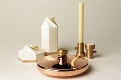 Anniversary by Leanne Richards. A range of products, inspired by the traditional wedding anniversary materials list, that explore how inexpensive materials can be used to make luxury goods.