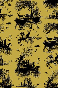 Timorous Beasties Wallcoverings - Hunting Toile