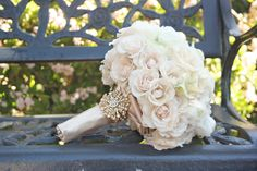 idea, bridal bouquets, vintage weddings, white roses, soft pink, wedding bouquets, vintage wedding flowers, white bouquets, vintage roses