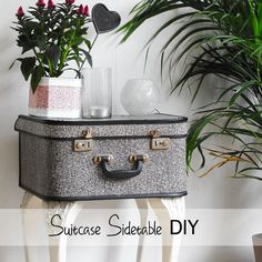 L A N A R E D S T U D I O: Suitcase Side Table Tutorial