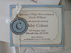 Baby Boy Shower Invitations - Personalized Baby Shower Invitations - Handmade Invitations. $25.00, via Etsy.