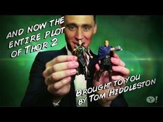 """Tom Hiddleston reenacts the entire trailer of """"Thor 2"""" with action figures - YouTube"""
