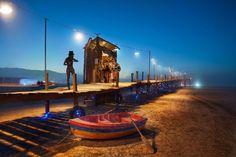 Sittin' by the dock in the desert. Burning Man. Stuck in Customs in Nevada.
