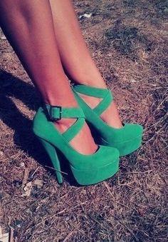 Shoe Wishlist green heels 7420 |Green Heels|