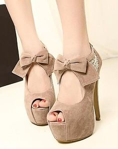 Bow Peep Toe Heels