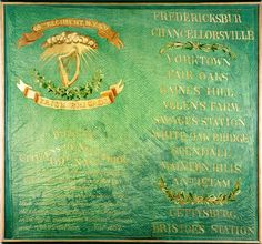 One of four regimental flags of the Union's famous Irish Brigade.